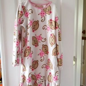 Carter's girls fleece nightgown sz large